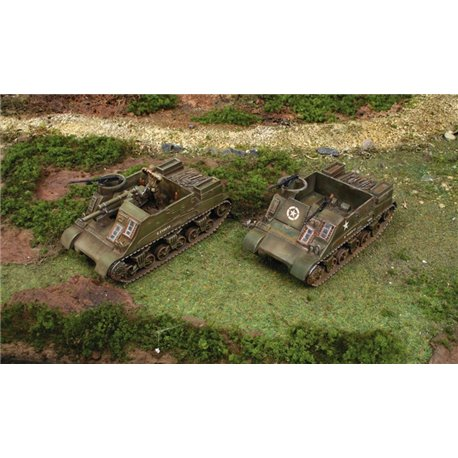 M7 Priest 105mm Howitzer Motor Carriage x 2 Fast Assembly Kits - scale 1 : 72