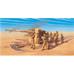 88mm Flak 37 AA Gun (WWII) + 8 figures