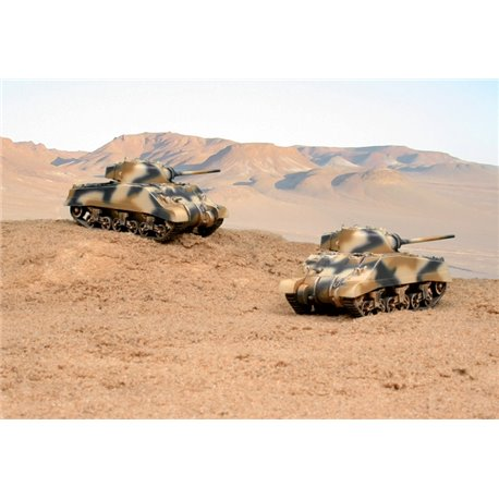 M4A2 Sherman III x 2 Fast Assembly Kits - scale 1 : 72