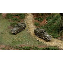 M3 75mm Half Track x 2 Fast Assembly Kits - scale 1 : 72