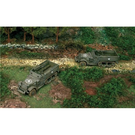 M3A1 Half Track x 2 Fast Assembly Kits - scale 1 : 72