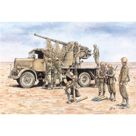 Autocannone RO3 with 90/53 AA Gun + 8 figures - scale 1 : 72