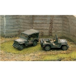 Willy Jeep Pack x 2 Fast Assembly Kits - scale 1 : 72