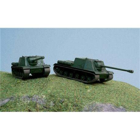 Soviet ISU-122 Pack x 2 Fast Assembly Kits - scale 1 : 72