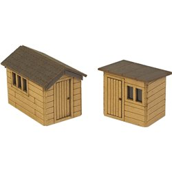 N Scale Garden Sheds