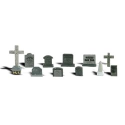 O Scale Tombstones
