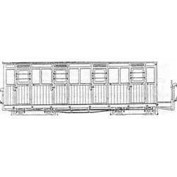 Festiniog Style 4 Compartment Bogie Coach