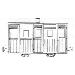 Festiniog Planked 4Wheel 3rd Coach
