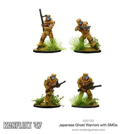 Japanese Ghost warriors with SMG's