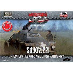 Sd.Kfz. 221 German Light Armoured Car - 1/72 Plastic model kit