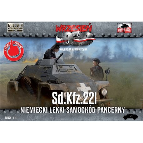 Sd.Kfz. 222 German Light Armoured Car - 1/72 Plastic model kit