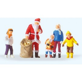 Father Christmas with Children Figure