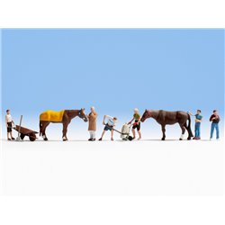 Stable Workers (6) & Horses (2)