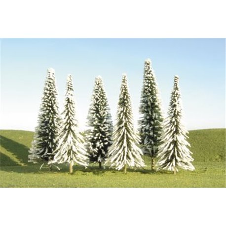 "8""- 10"" Pine Trees With Snow (x3)"