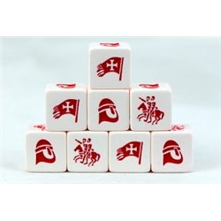 The Crescent & The Cross Christian Factions Dice