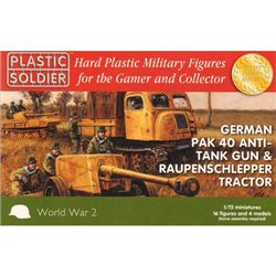 1/72nd German Pak 40 and Raupenschlepper tractor