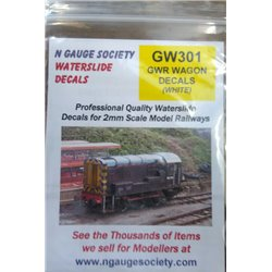 N Gauge Decals - GWR Wagons 1923 to 1947