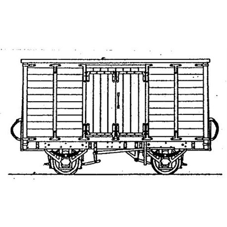 Tralee and Dingle Railway Covered Goods Van Kit