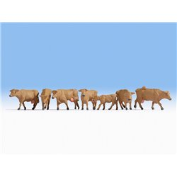 Brown Cows (7) Figure Set