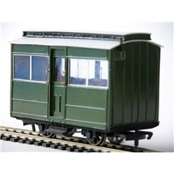 Glyn Valley Tramway 3rd Class, 4 wheel, Clestory Coach