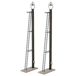 Wooden Post Yard Lamps (x2)