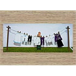 Washing line, clothes & figure Victorian (O scale 1/43rd)