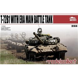 T-72B1 with ERA Main Battle Tank - 1/72 scale