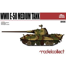Germany WWII E-50 Medium Tank with 88mm Gun(Plastic Kit) - 1/72 scale