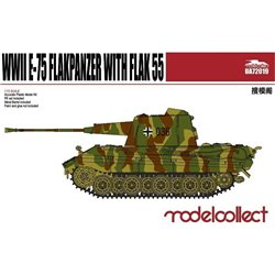 Germany WWII E-75 Flakpanzer with Flak 55 Gun(Plastic Kit) - 1/72 scale