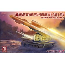 Panzer E-100 WWII Weapon Carrier with V1 Missile Launcher - 1/72 scale