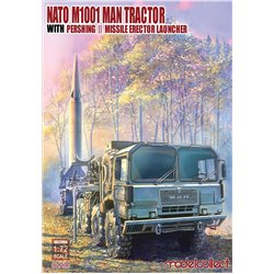 NATO M1001 MAN Tractor & Pershing II Missile Launcher