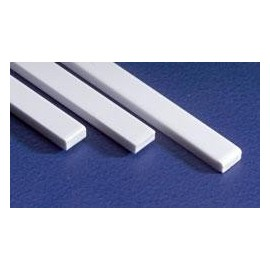 Strip HO scale 0.066 x 0.066in (1.6764 x 1.6764 mm) - 10 pack