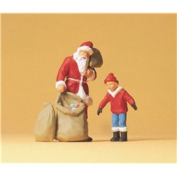 Santa Claus with Child Figure Set