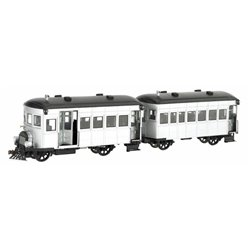 Rail Bus & Trailer-Unlettered (Silver Black)