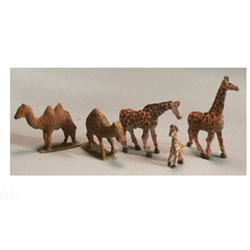 Zoo Giraffe and Camels Animals of the Plain (N Scale 1/144) - Unpainted