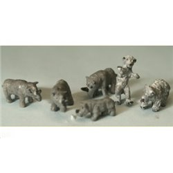 Rhinos and Bears ( Nscale 1/144th) - Unpainted