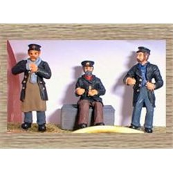 3 Assorted Draymen (O scale 1/43rd) - Unpainted
