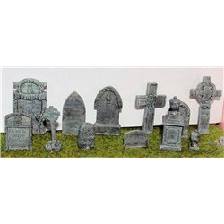 Assorted Gravestones (O scale 1/43rd) - Unpainted