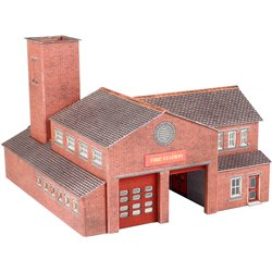 N Scale Fire Station
