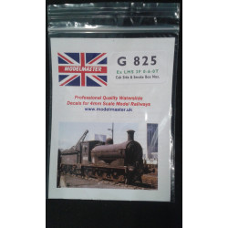 Smoke Box Numbers for ex L.M.S. Class 3F 0-6-0T