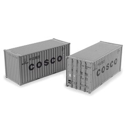 20ft Containers 'Cosco' (x2)