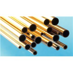 Slide Fit Tube Selection Pack - 0.4mm, 0.6mm, 0.8mm & 1.0mm Brass Tube