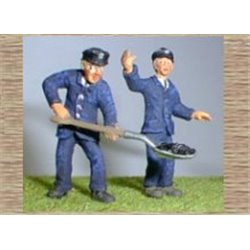 Painted Loco Crew - Engine Driver & Fireman (O scale 1/43rd)