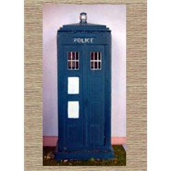 Painted Police Telephone box (O scale 1/43rd)