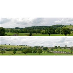 "Derbyshire village OO Backscene (15""x10') pack A PREMIUM PRINT !"