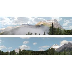 "Rockies OO gauge Backscene (15""x10') Pack B PREMIUM PRINT !"