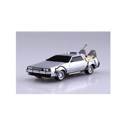 Aoshima Back to the Future Part 1 Delorean Pull Back & Go