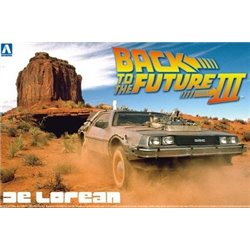 AOSHIMA 1/24 BACK TO THE FUTURE DELOREAN from PART III & RAILROAD