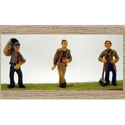3 Municipal/Council Workers and a Dustbin (O scale 1/43rd)