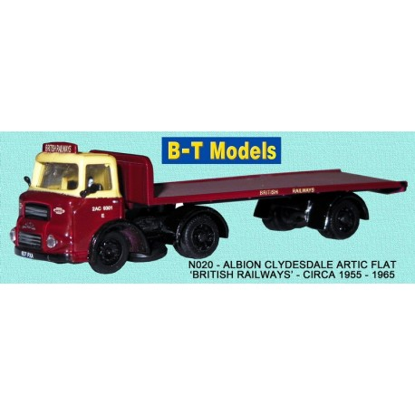 Albion Clydesdale Artic with Single Axle Flat Trailer - British Railways